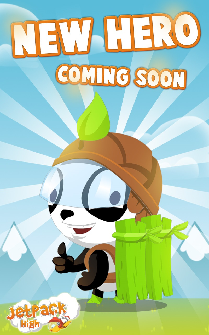 Pamboo is a new character in jetpack high on Android iOs and Black Berry